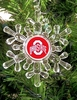 Item # 141023 - Ohio State University Buckeyes Snowflake Ornament