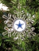 Item # 141159 - Acrylic Dallas Cowboys Snowflake Christmas Ornament