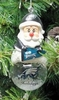 Item # 141174 - Philadelphia Eagles Santa Snow Globe Christmas Ornament