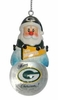 Item # 141178 - Green Bay Packers Santa Snow Globe Christmas Ornament