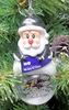 Item # 141183 - Baltimore Ravens Santa Snow Globe Christmas Ornament