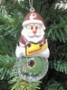 Item # 141184 - Washington Redskins Santa Snow Globe Christmas Ornament