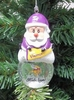 Item # 141189 - Minnesota Vikings Santa Snow Globe Christmas Ornament