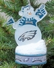 Item # 141199 - Philadelphia Eagles LED Snowman Christmas Ornament