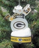 Item # 141200 - Green Bay Packers LED Snowman Christmas Ornament