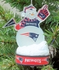 Item # 141202 - New England Patriots LED Snowman Christmas Ornament