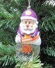 Item # 141222 - Clemson University Tigers Santa Snow Globe Ornament