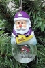 Item # 141223 - East Carolina University Pirates Santa Snow Globe Ornament