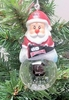 Item # 141236 - University of South Carolina Gamecocks Santa Snow Globe Christmas Ornament