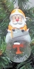 Item # 141237 - University of Tennessee Volunteers Santa Snow Globe Christmas Ornament