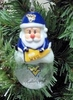 Item # 141240 - West Virginia University Mountaineers Santa Snow Globe Ornament