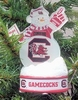Item # 141245 - University of South Carolina Gamecocks LED Snowman Christmas Ornament