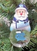Item # 141258 - University of North Carolina Tar Heels Santa Snow Globe Christmas Ornament