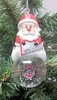 Item # 141261 - Ohio State University Buckeyes Santa Snow Globe Ornament