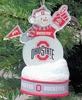 Item # 141274 - Ohio State University Buckeyes LED Snowman Christmas Ornament