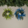 Item # 146006 - Peacock Feather Wreath Ornament