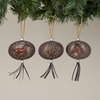 Item # 146008 - Western Oval Plaque Christmas Ornament