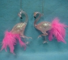 Item # 146070 - Flamingo With Pink Feather Tail Christmas Ornament