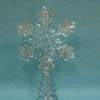 Item # 146192 - Clear Snowflake With Wire Base Tree Topper