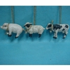 Item # 146346 - Pig/Sheep/Cow Ornament