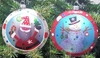 "Item # 146508 - 4"" Glass Santa/Snowman Disc Ornament"
