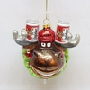 Item # 146582 - Moose Head With Beer Cans Christmas Ornament
