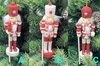 "Item # 146633 - 5"" Glittered Candy Cane Nutcracker Ornament"