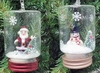 "Item # 146791 - 4"" Glass Santa/Snowman Jar Ornament"