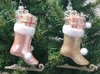 "Item # 146795 - 5"" Glass Ice Skate With Gifts Christmas Ornament"