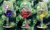"Item # 146813 - 4.75"" Glass Wine Glass With Grapes Christmas Ornament"