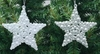 "Item # 146920 - 4"" Glittered White/Silver Shatterproof Star Ornament"