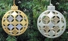 "Item # 146938 - 4"" Glittered Gold/Silver Shatterproof Ball Ornament"