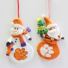 Item # 146976 - Clemson University Tigers Snowman/Santa Christmas Ornament