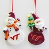Item # 146984 - Virginia Tech Hokies Snowman/Santa Christmas Ornament
