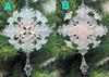 "Item # 147000 - 7"" Clear/Pink Snowflake With Drop Ornament"