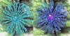 "Item # 147014 - 6"" Glittered Peacock Flower Ornament"