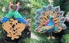 "Item # 147016 - 4"" Resin Peacock Ornament"