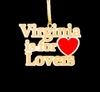 Item # 152009 - Wooden Virginia Is For Lovers Ornament