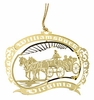 Item # 152060 - Brass Horse and Carriage Ornament