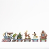 Item # 156076 - Miniature Jim Shore 5 Piece Christmas Train Set Collectible