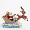 Item # 156077 - Santa In Sleigh With Rudolph Jim Shore Collectible Figure