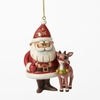 Item # 156083 - Santa & Rudolph Rankin/Bass 50th Anniversary Jim Shore Collectible Ornament