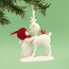 Item # 156636 - She Kissed A Reindeer Snowbabies Collectible Ornament
