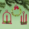 Item # 156735 - Solid Glass Candle/Wreath Christmas Ornament