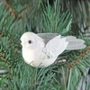 Item # 177038 - White Glitter Bird Clip Ornament