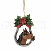 Item # 177043 - Horseshoe Wreath Christmas Ornament