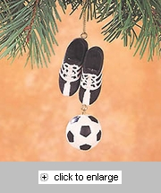Item # 177052 - Soccer Ball Christmas Ornament