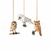 Item # 177084 - Wood Carved Owl Ornament