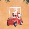 Item # 177128 - Fore The Holidays Santa In Golf Cart Christmas Ornament