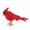 Item # 177155 - Red Felt Cardinal Ornament